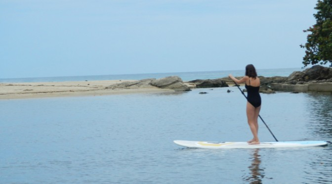 Paddle boarding in Puerto Rico